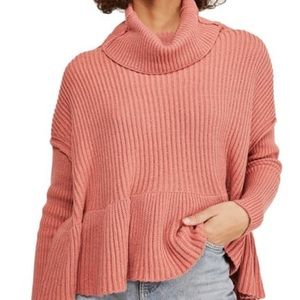 FREE PEOPLE layercake rose icing sweater small nwt